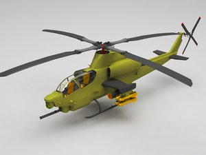 3D helicopter military model