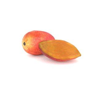 3D mango fruit food