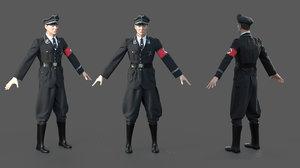 3D german ss officer