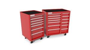 tool cabinet garages 3D model