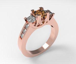 ring stone 3D model