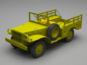 3D military jeep