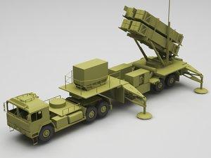 3D model military missle launcher