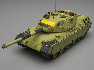 leopard tank 3D model