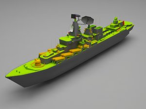 3D model battle ship
