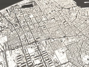 3D batumi city tower georgia model