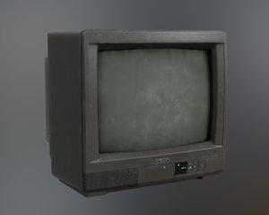 3D model tv 90s