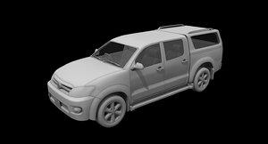3D toyoya hilux car
