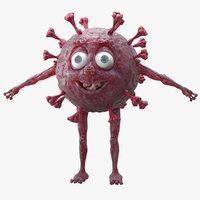Cartoon Virus COVID-19