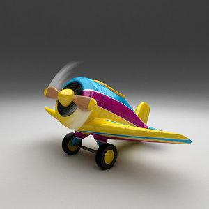 3D cartoon air plane model