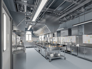 commercial kitchen 2 3D