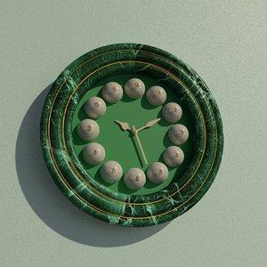 wall clock billiard 3D model