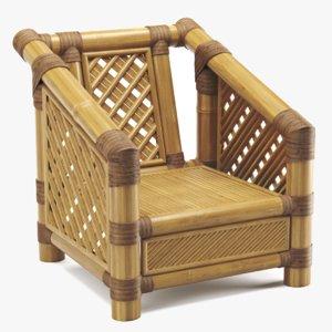 bamboo chair 3D
