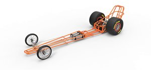 chassis dragster drag 3D model