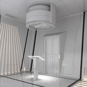 scifi room set 3D model