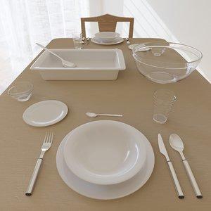 home tableware plate 3D model