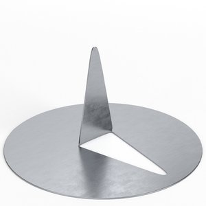 3D flat head pushpin model