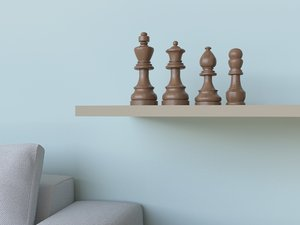3D statue chess pieces