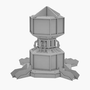 3D sci-fi avatar