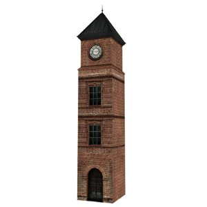 3D model old clock tower