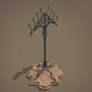 candelabra medieval 3D