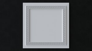 3D ceiling tiles greek style