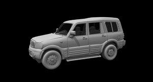 3D mahindra scorpio car model