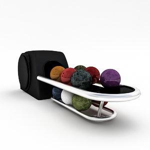 3D bowling ball machine