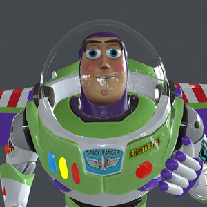 buzz running place 3D model