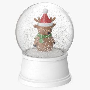 snow globe deer 3D model