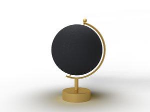rotating swivel world globe 3D