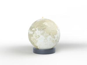 3D rotating swivel world decoration model