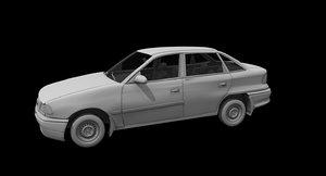 opel astra car 3D