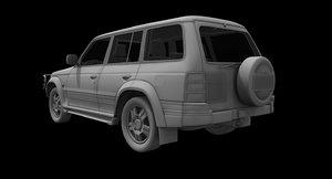pajero car 3D model