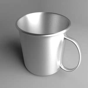 3D model steel cup