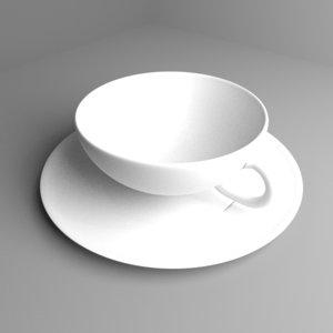 teacup tea cup 3D