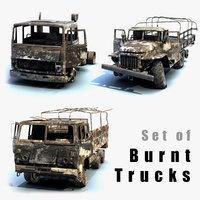 Trucks Burnt Set