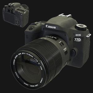 3D camera canon eos 77d