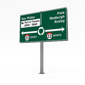 3D traffic sign 01