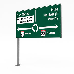traffic sign 02 3D model