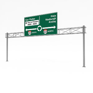 traffic sign 05 3D model