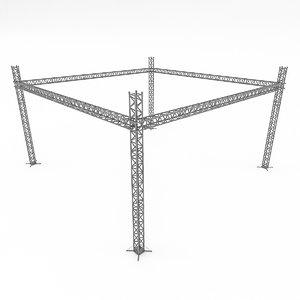 modular scaffolding 3D model
