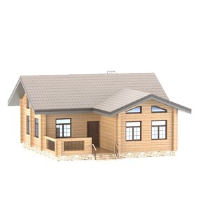 3D wooden country house