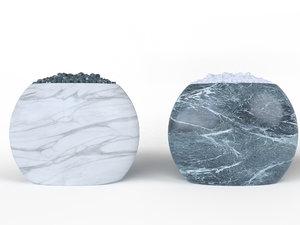 3D marble vase stone model