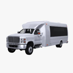 3D model generic shuttle bus