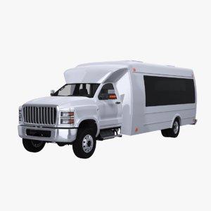 3D model generic shuttle bus