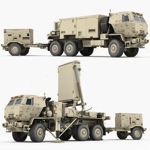 3D tpq-53 radar counterfire armor model