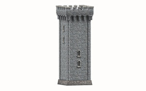 stone tower 3D