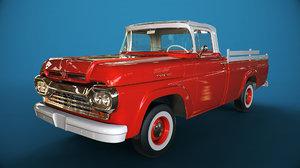 3D f100 1960 model