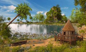 3D thailand beach